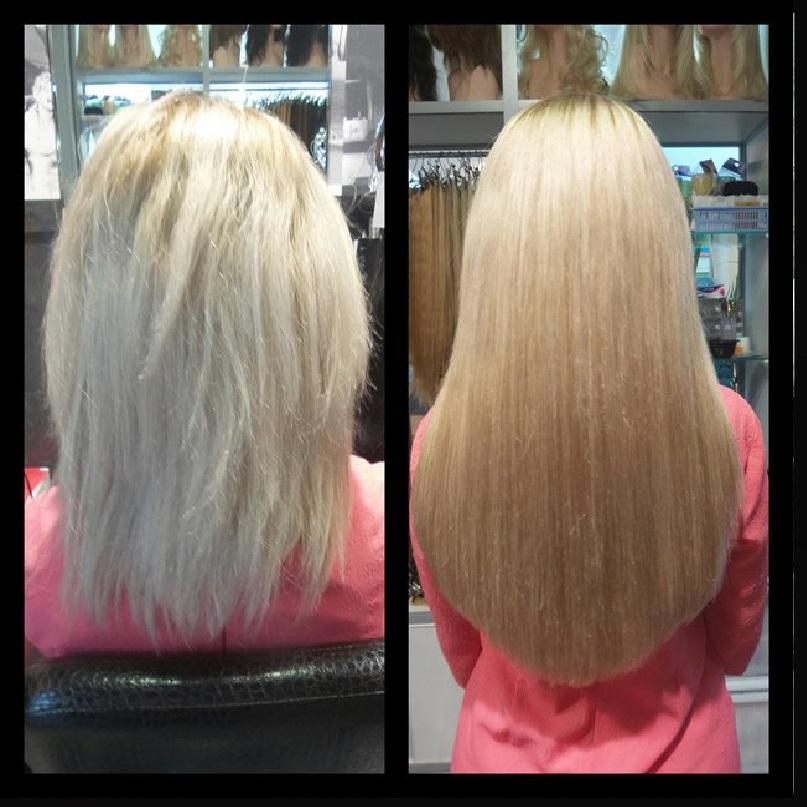 Наращивание волос в москве цены